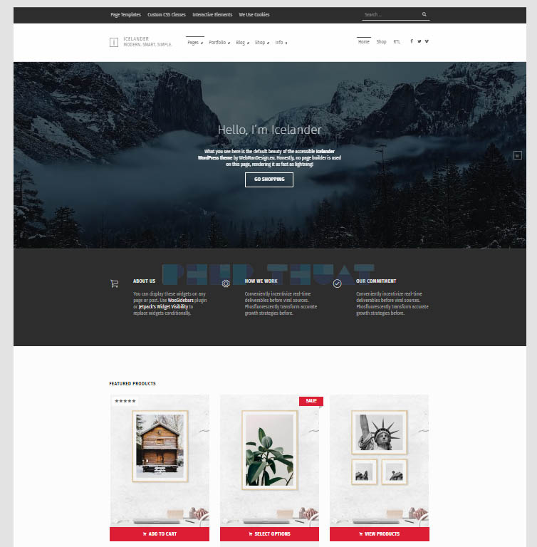 theme wordpress icelander